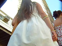 upskirt white dress