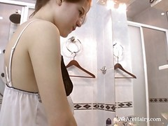 Kinky Angela Plays In The Bathroom