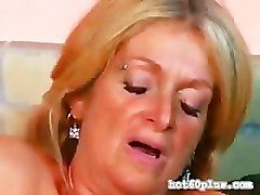 Sexy granny in boots banging