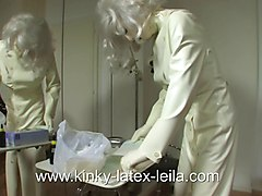 Bizarre enema and catheter latex dirndl Part 4 of 5
