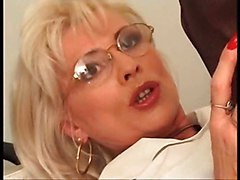 Pussy pierced mature slut getting cunt with piercing fisted