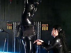 German mistress treats her Latexsissy