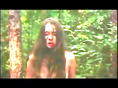 Camille Keaton naked in the woods (1978)