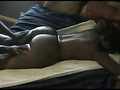 big booty ebony getting booty massage