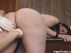 big ass goth chick gets ass fingered in jail