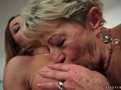 Hot Busty Teen Loves Horny Granny