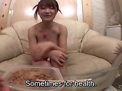 subtitled bizarre japanese busty natto food play in pov