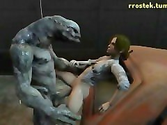 3d monster porn animations