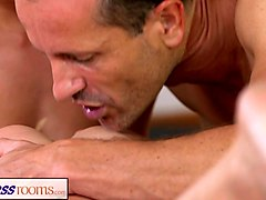fitnessrooms yoga girls get creampied in a yoga class