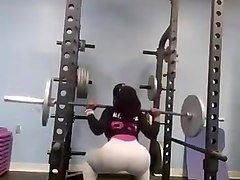 sexy african lady workin out in the gym part 2