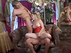 Hottest pornstar Erika Kole in horny threesomes, blonde adult clip