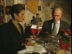 Elegant Italian Mature Cheating Husband On Restaurant