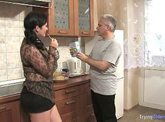 Mature Man Has Fun With Chubby Neighbour