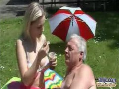 Dirty Old Man Seduced By A Young Busty Slut